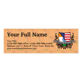 Indian-American Shield Flag Business Card Template