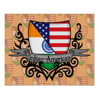 Indian-American Shield Flag Poster