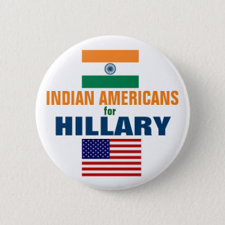 Indian Americans for Hillary 2016 6 Cm Round Badge