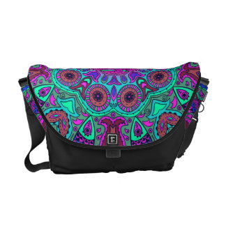 Indian and Chinese Happiness Mandala Commuter Bags