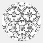 indian art2 classic round sticker