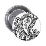 indian art3 pinback buttons