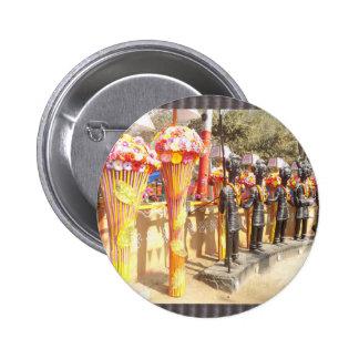 Indian art n crafts show surajkund mela newdelhi 6 cm round badge