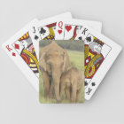 Indian / Asian Elephant and young one,Corbett Playing Cards