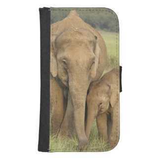 Indian / Asian Elephant and young one,Corbett Samsung S4 Wallet Case