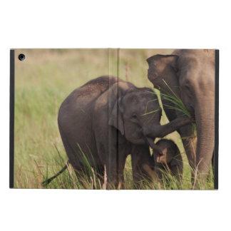 Indian Asian Elephant family in the savannah iPad Air Cover