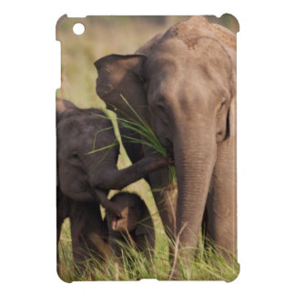 Indian Asian Elephant family in the savannah iPad Mini Case