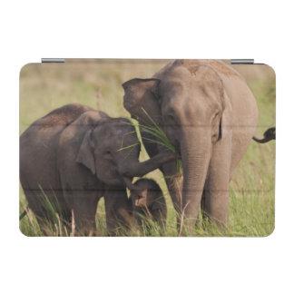 Indian Asian Elephant family in the savannah iPad Mini Cover