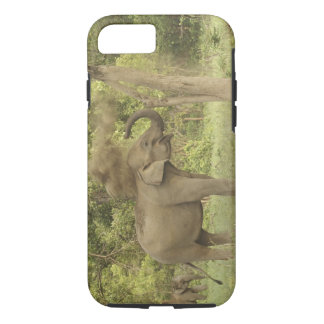 Indian / Asian Elephant taking dust bath,Corbett iPhone 8/7 Case