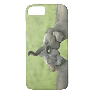 Indian / Asian Elephants play fighting;Corbett iPhone 8/7 Case