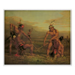 Indian Ball Game by Charles Deas 1843 Poster