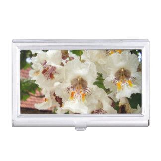Indian Bean Tree Flowers Business Card Holder