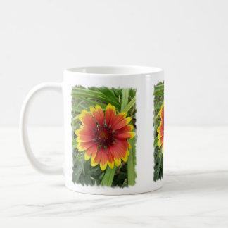 Indian Blanket Flower Basic White Mug