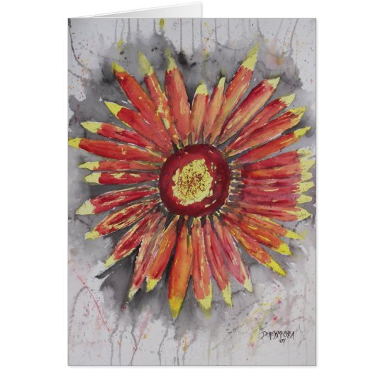 Indian Blanket Wildflower Card