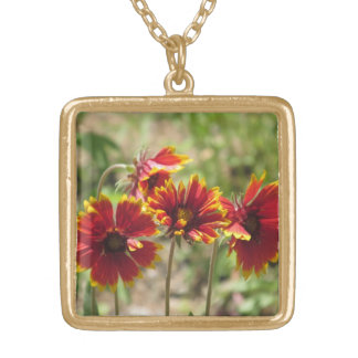 Indian Blanket Wildflowers Necklace