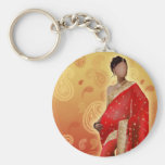 Indian Bollywood Girl Keychain