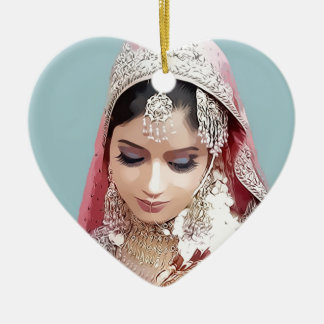 Indian bride christmas ornament
