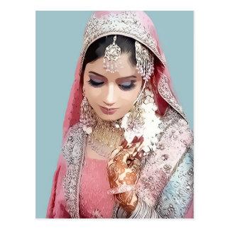 Indian bride postcard