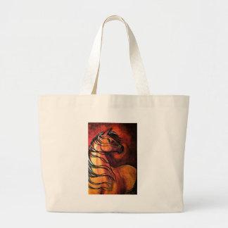 Indian Buckskin War Horse Canvas Bag