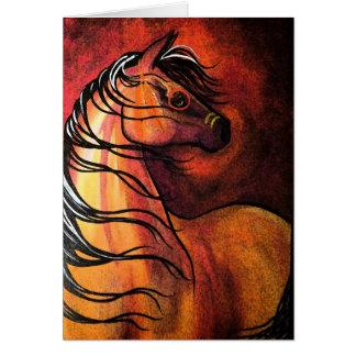 Indian Buckskin War Horse Cards