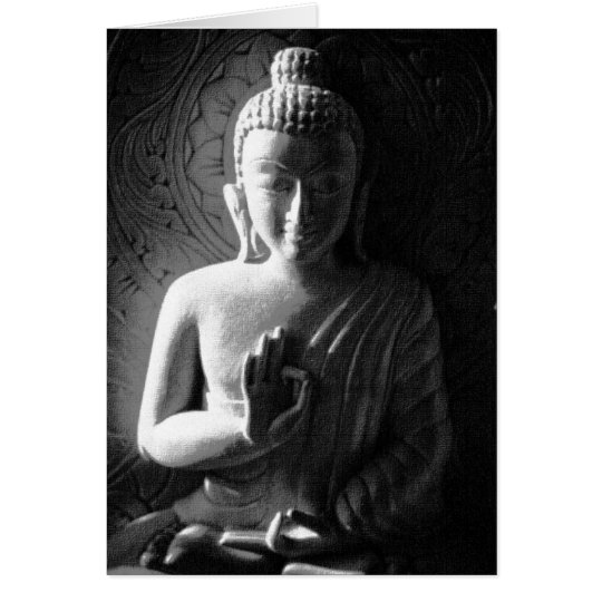 Indian Buddha - black and white Card