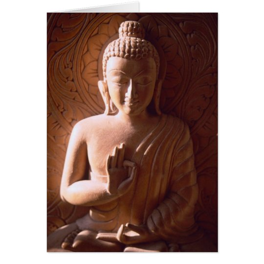 Indian Buddha in Wood Card