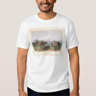 "Indian Buffalo Hunt: ""Close Quarters"" (0743A) Tshirt"