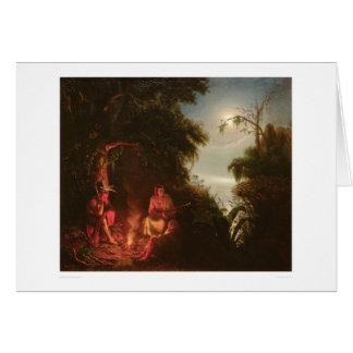 Indian Campfire (2166A) Card