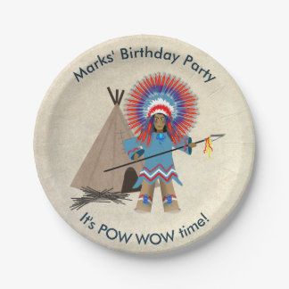 Indian Chief Birthday Party Paper Plates