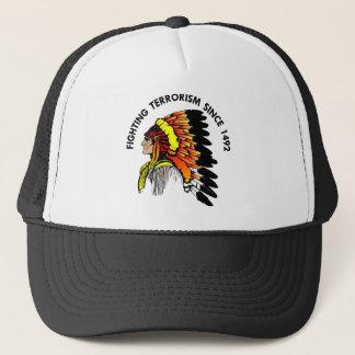 Indian Chief Fighting Terrorism Trucker Hat