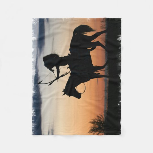 Indian Chief Fleece Blanket