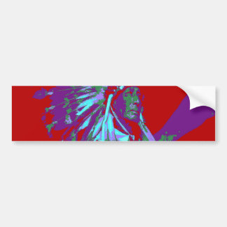 Indian Chief Pop Art Bumper Sticker