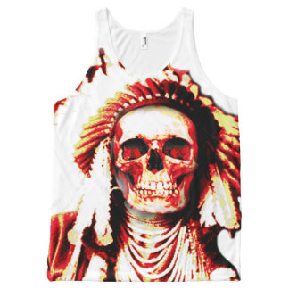 indian chief skull All-Over print tank top