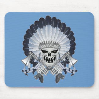 Indian Chief Skull Mousepad