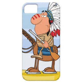 Indian Chief With Gun On Horse iPhone 5 Covers
