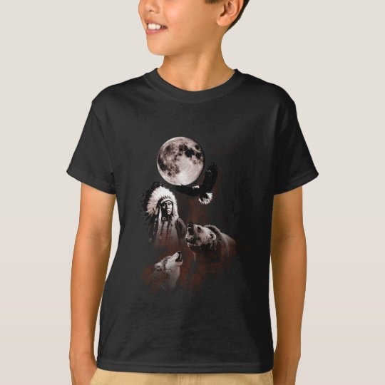 Indian Chief - Wolf - Moon - Bear