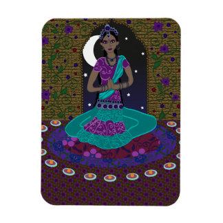 Indian Classical Dancer Rectangular Photo Magnet
