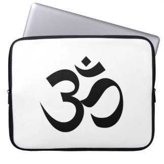 Indian Dharmic religion sacred symbol mantra Hindu Laptop Sleeve