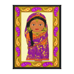 indian doll,india canvas print
