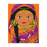 indian doll,india gallery wrap canvas