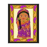 indian doll,naive canvas prints