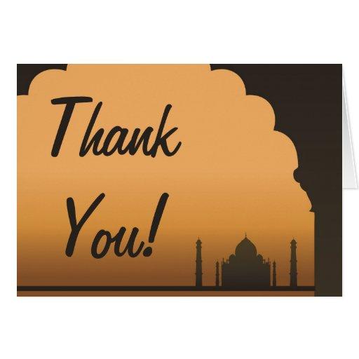 Indian Dream Wedding Folded Thank You Card | Zazzle