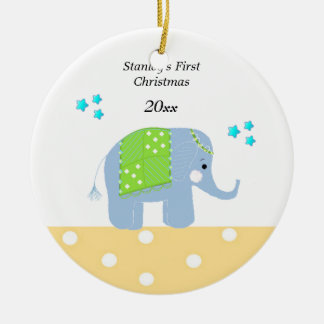 Indian Elephant Baby's First Christmas Christmas Ornament