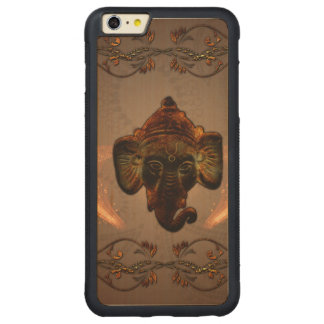 Indian elephant carved maple iPhone 6 plus bumper case