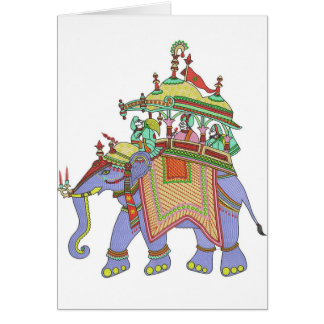 INDIAN ELEPHANT DESIGN CARD