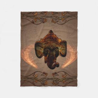 Indian elephant fleece blanket
