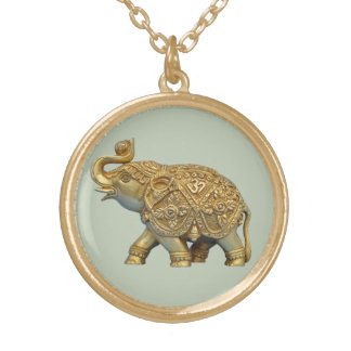 Indian Elephant Gold Plated Necklace