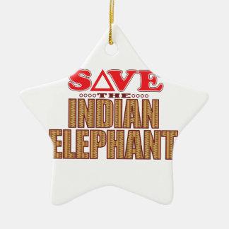 Indian Elephant Save Christmas Ornament