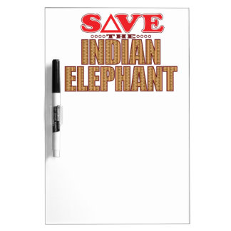 Indian Elephant Save Dry Erase Board