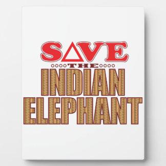 Indian Elephant Save Plaque